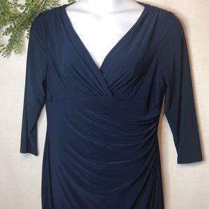 Lauren Ralph Lauren| Navy Faux Wrap Dress | 16
